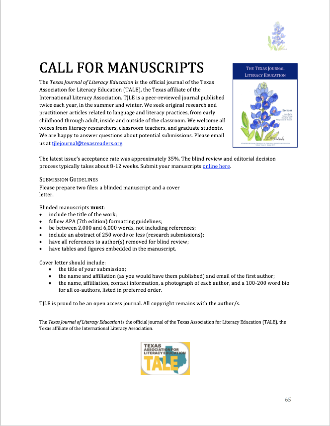 Image of Call for Manuscripts